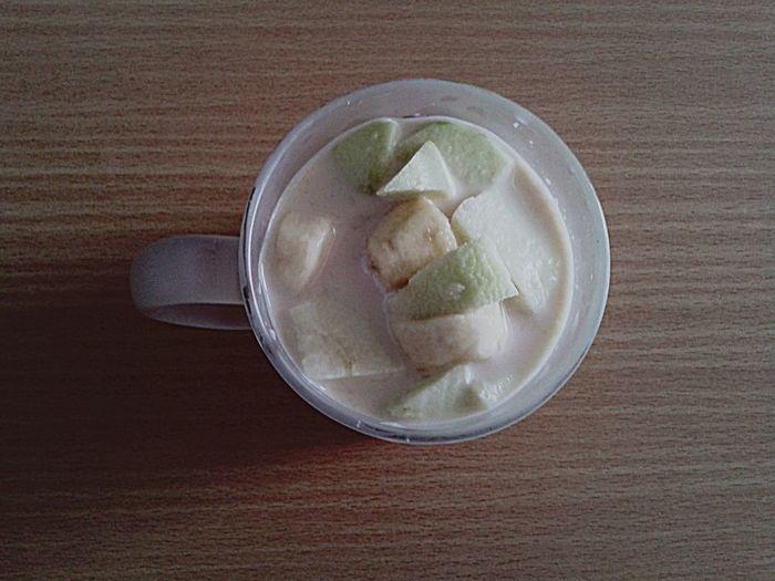 apple , banana and milk ;) Clean Food Enjoying Life Peaceful