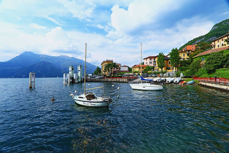 30/04/2016 Boat Canon 10-22mm Canon 700D Day Lake Lake Of Como Lake View Mypointofview Nature No People Outdoors Sailboat Sky Tranquil Scene Tranquility Varenna Water