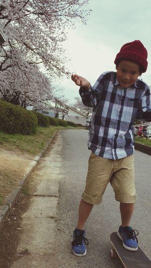Myson Skateboarding Spring Cherry Blossoms