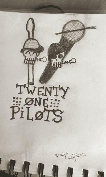 My drawing of twenty one pilots.  -/ TwentyOnePilots Josh Dun Tyler Joseph Skeleton Clique  -/