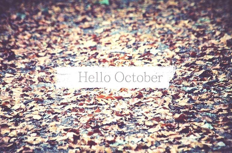 Hello October Goodbye September