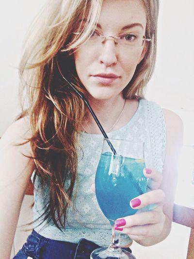 GM with a blue Laguna cocktail ;) That's Me Hello World Taking Photos Enjoying Life