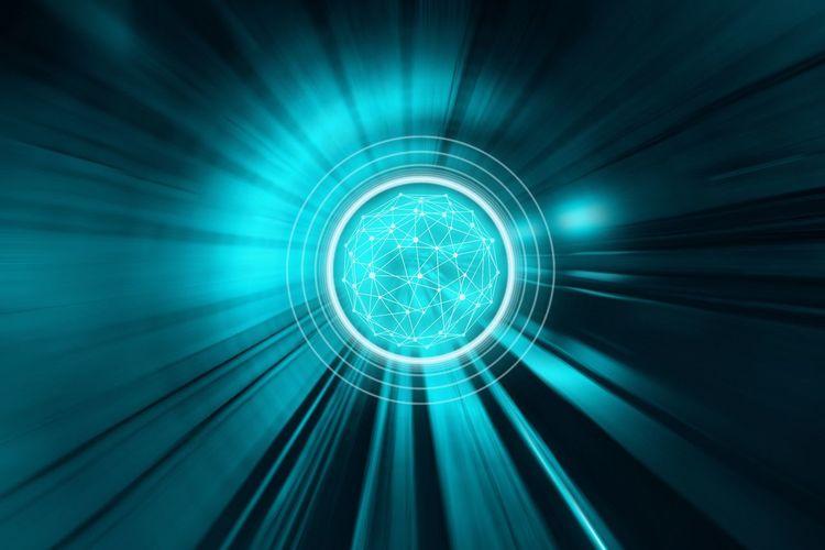 Digital composite image of light