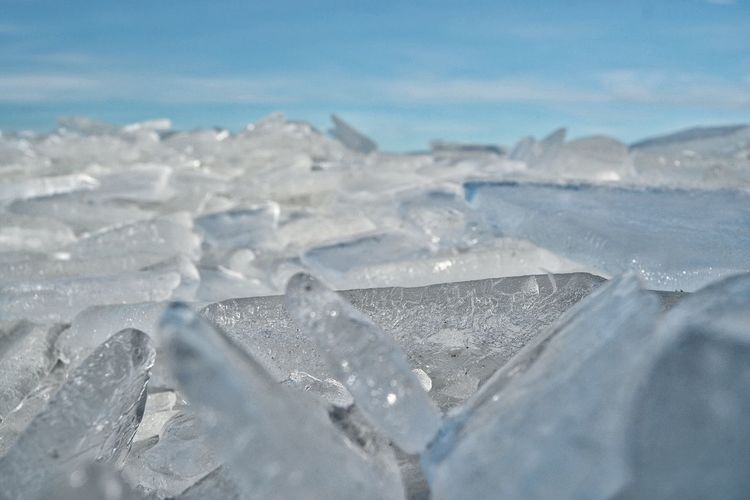 Close-up Frozen Frozen Nature Frozen Sea Ice Sea Beach Water Sky Close-up Wave Ice Crystal