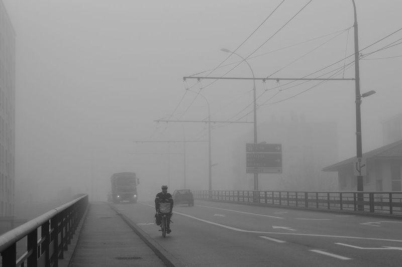 Fog Day One Man