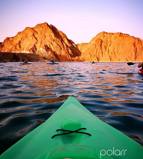 EyeEm Selects Water Mountain Astrology Sign Lake Sunset Kayak Adventure Nautical Vessel Reflection Sky