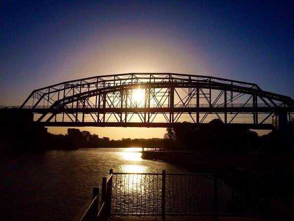 """Decompressing this morning at the """"The Ocean To Ocean Bridge"""" after a long Nightshift. Bridge Beauty In Nature Outdoors Riverbank Riverscape Life Decompressing Sun Rises For A New Day Sun Rise Sun Rays Calmness Calmness & Water The Week On EyeEm Perspectives On Nature"""