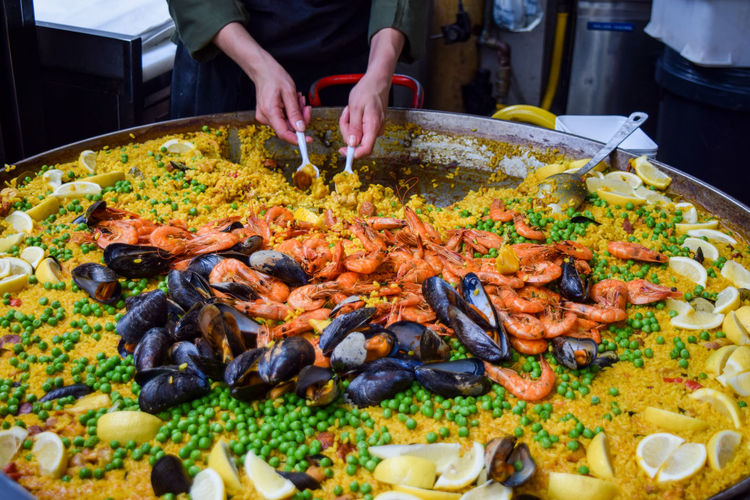 London Paella Food Food And Drink Freshness Preparation  Ready-to-eat Seafood