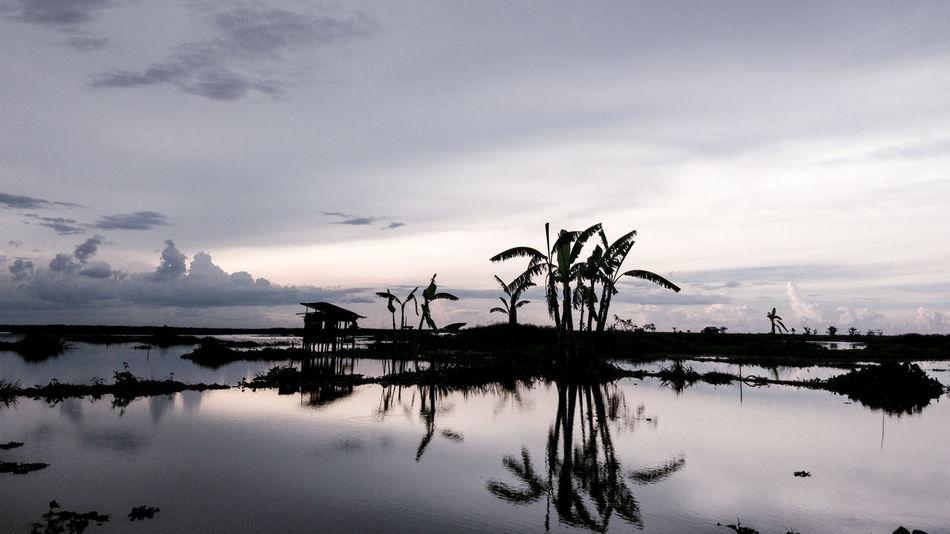 Landscape EyeEm Indonesia Silhouette Sunset Water Water Reflections Lake EyeEm Best Shots Sky Cloud Cloud - Sky