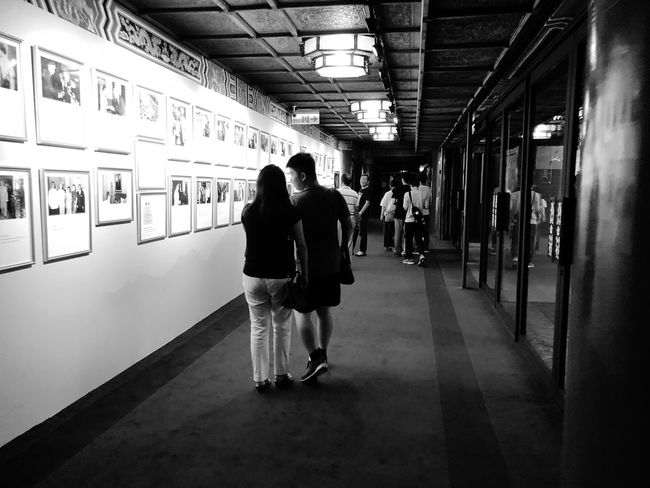 Indoor Photography series: Through the Lens to the past glory time. Photomania Worldview Paul Lin Photography Taipei Grand Hotel Old Photos With History Indoor Photography Grand Hotel Taipei Black And White Photography My Asia Trip 2018 Real People Walking Architecture Rear View Indoors  Full Length Adult Men Women Built Structure Leisure Activity People Travel Moments Of Happiness