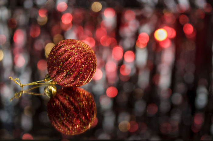 Christmas decorations Celebration Christmas Christmas Decoration Christmas Ornament Christmas Tree Balls Close-up Focus On Foreground No People One Item Red
