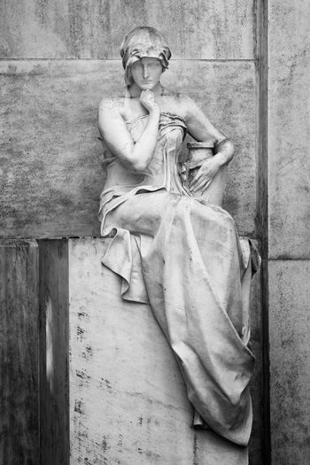 Dress Sitting Thinking Thinking Of Him Woman Art And Craft Creativity Fashion Female Likeness Full Length In Thought Sculpture Sitting Sitting And Thinking Statue Stone Thinking Woman Thoughful