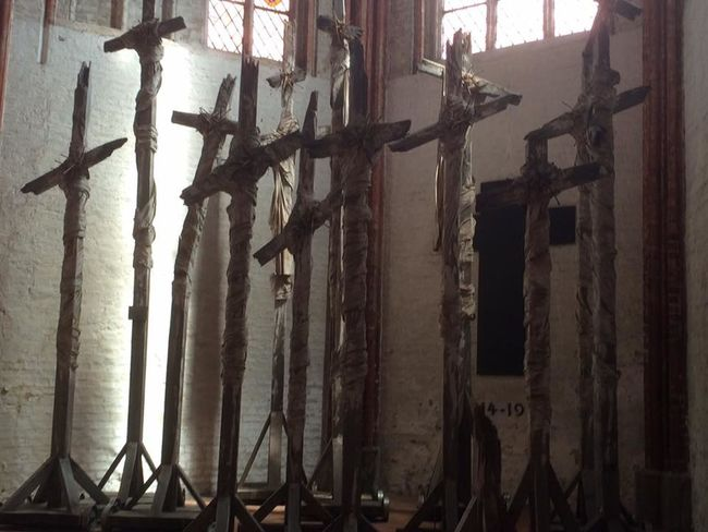 Church Crusified Faith <3 Hope Jesus Lübeck, Germany Old Rugged Cross Religious Art