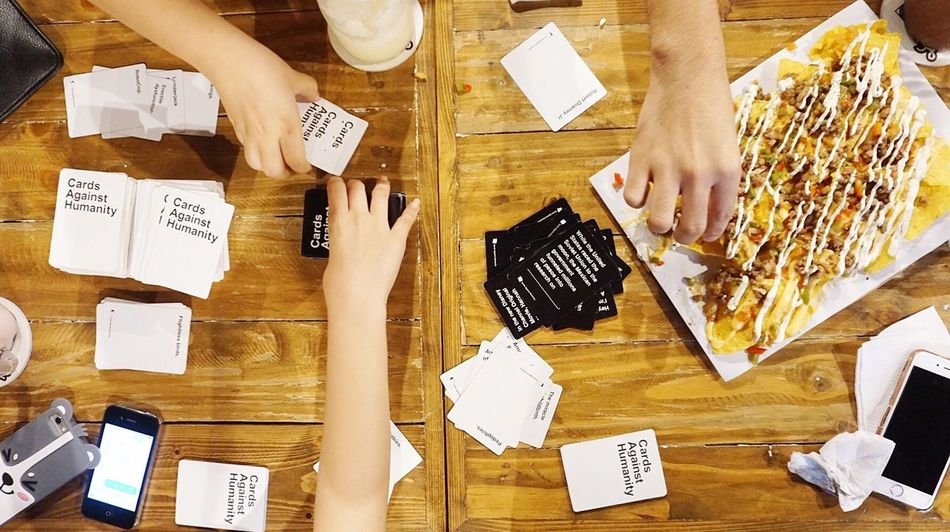 Indoors  Human Hand Cards Cardsagainsthumanity Friends Bonding