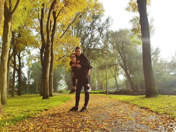 Full Length Tree Standing Nature Young Adult Outdoors Day Grass Autumn Feelyoung Youth Feelfree