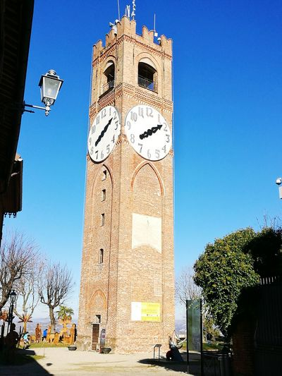 Clock Tower Clear Sky Clock Face Mondovì