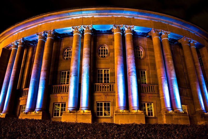 Bad Kissingen @ Night Night Architectural Column Low Angle View Illuminated No People Architecture Outdoors