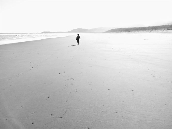 Beach Beauty In Nature Full Length Japan Houses Landscape Nature One Person Outdoors Sand Sea Walking