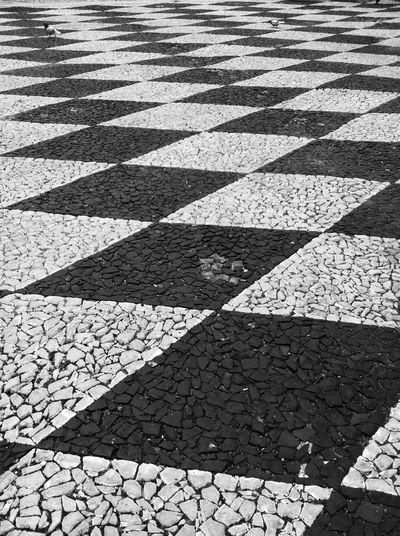 Full frame shot of cobblestone pavement