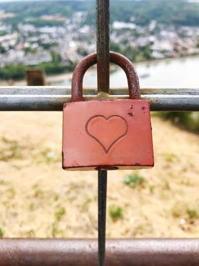 Romantic Heart Shape Love Lock Focus On Foreground Metal Close-up Padlock Lock Safety No People Heart Shape Hanging Protection Security Outdoors Love Emotion Communication Love Lock Positive Emotion