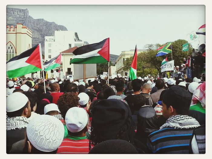 The Portraitist - 2014 EyeEm Awards. Mass March in Cape Town this year for Gaza PrayForGaza Freedom For Palestine First Eyeem Photo