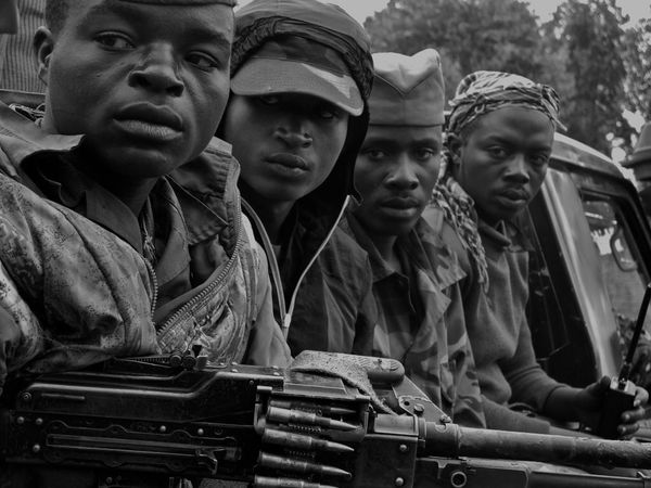Rebel fighters, eastern DR Congo, 2013. Soldiers Monochrome Africa Conflict War Men Young Men Portrait Young Adult Day Adult Outdoors Adults Only People
