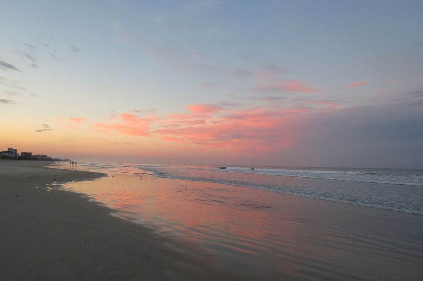Sunset reflection Beach Sunset Sea Water Reflection Horizon Over Water Sun Sand Tranquil Scene