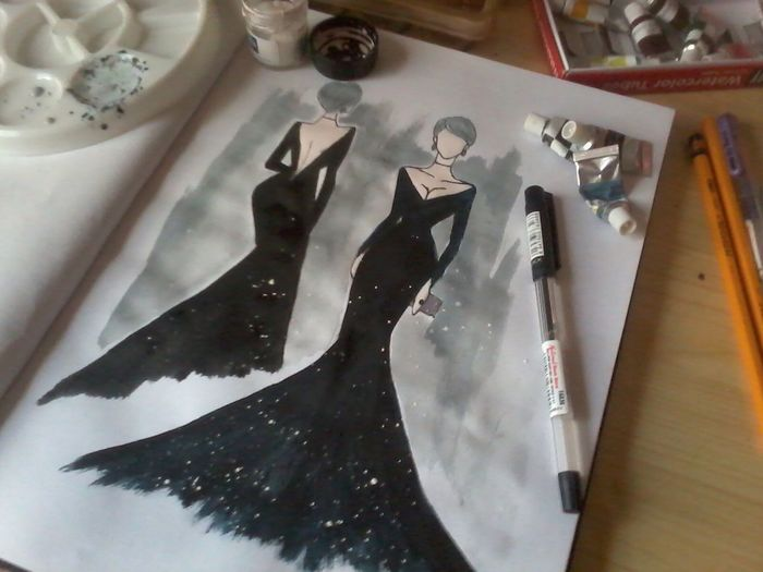 ArtWork Blackandwhite Bold And Beautiful Design Fashion SkecthArt Sketch Sketching