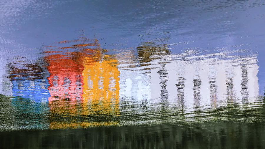 Full frame shot of rippled water in lake