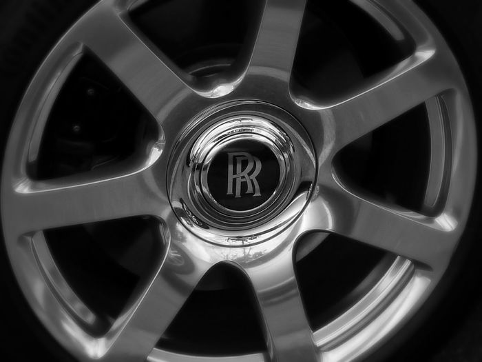 The Drive Car Wheel Rolls Royce Wraith Luxury Up Close Reflection Black And White Photography