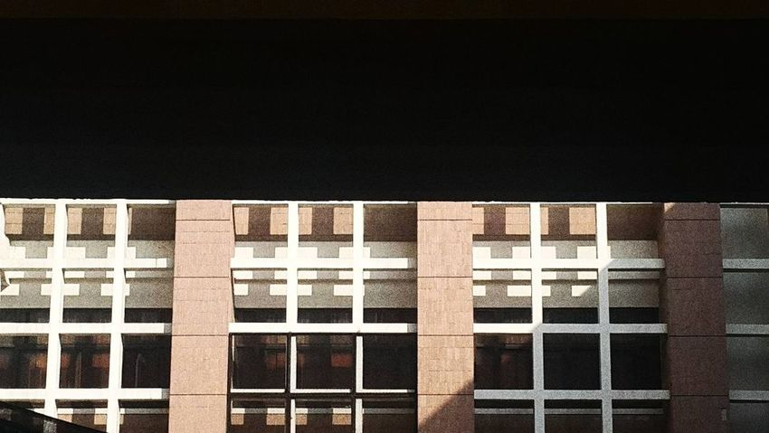 My love GRID at facade of Architecture building. ❤❤ Architecture Façade No People Building Exterior Outdoors Shading  Grid Pattern Rough Texture Linear Light And Shadow Natural Light Buildings