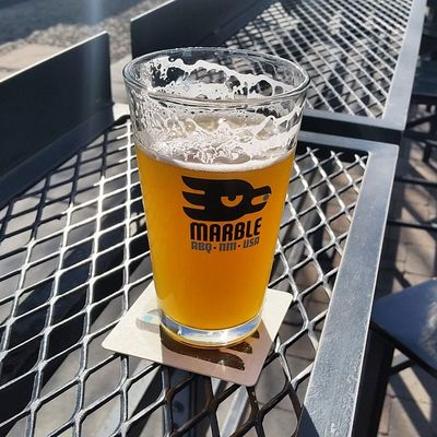 Can't resist a Marblebrewery Doublewhite on a Beautiful Nm day craftbeer beer