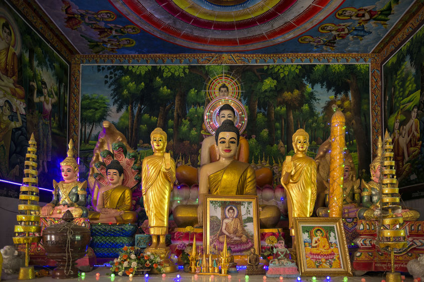 Colourful Shrine ASIA Asian Culture Buddha Image Buddhas Cambodia Faith Shrine Travel Belief Buddha Statue Buddhism Buddhist Temple Human Representation No People Place Of Worship Religion Sacred Spirituality Statue Travel Destinations Step It Up
