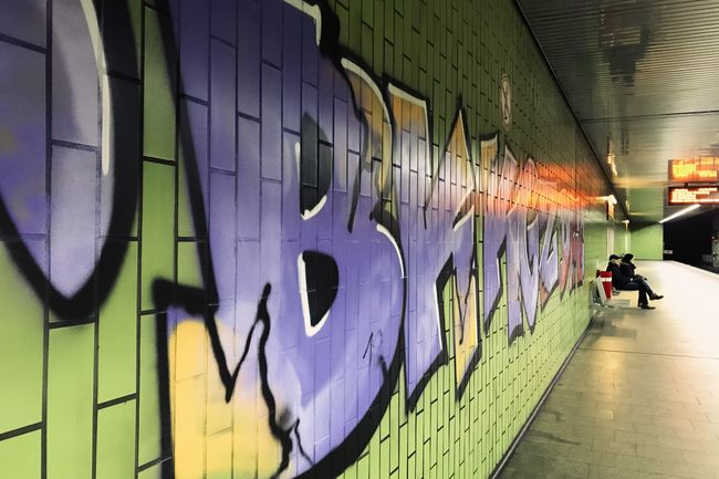 UndergroundGallery Subway Station Subway Notes From The Underground Graffiti Architecture Creativity Wall - Building Feature Art And Craft #urbanana: The Urban Playground Transportation Street Art Real People Lifestyles Incidental People