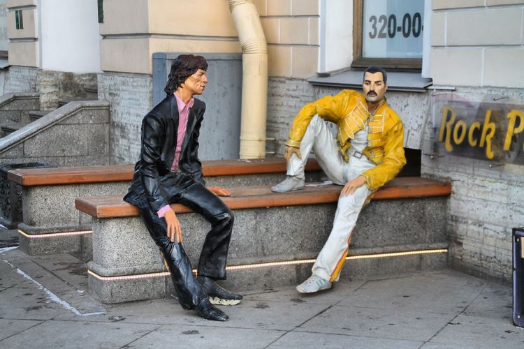 Saint Petersburg Mik Jagger Freddie Mercury