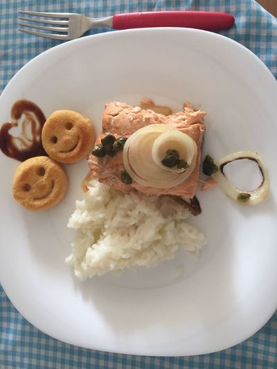 Good food prepared by my wife with love. Love Food Love Salmon Rice