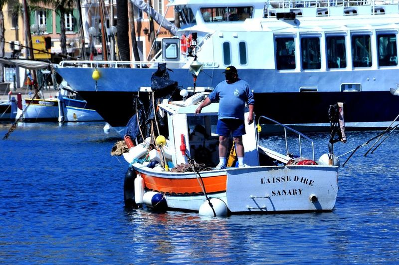 France Sanary Sur Mer Blue Day Fishing Boat Fishing Industry France 🇫🇷 Harbor Mode Of Transportation Outdoors People Real People Sea Ship Travel Waterfront