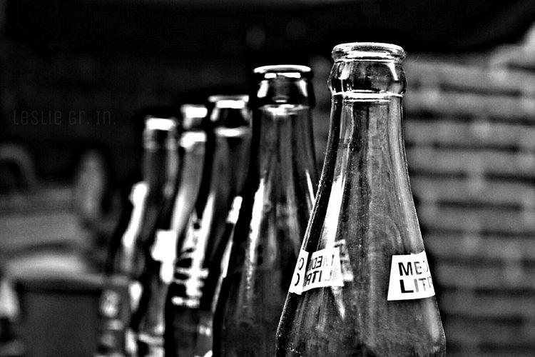 Bicabotellas Sodas Bebidas Botellas Botella Refresco Leslie_Gr_In Black & White Blanco Y Negro