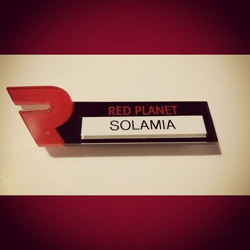 My New Name Plate Redplanet Firstname Realname