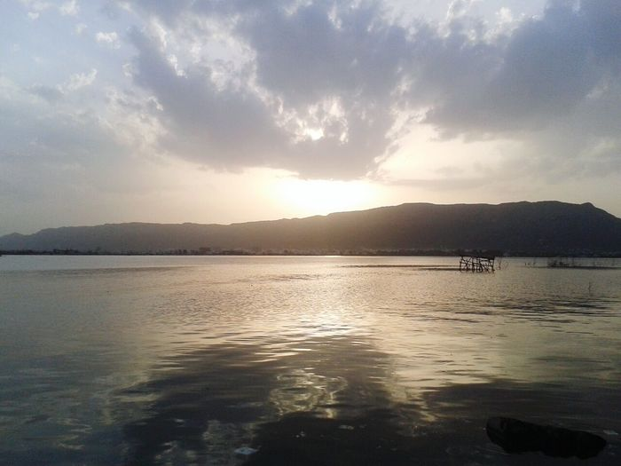 Anasagar Lake, Ajmer Clouds And Sky Water Reflections