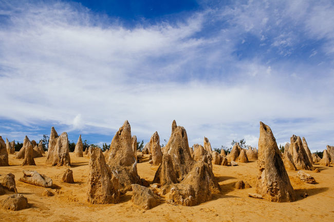 Pinnacles Desert in the Nambung National Park Perth Perth Australia Pinnacles National Park Arid Climate Beauty In Nature Cloud - Sky Day Desert Landscape Nature No People Outdoors Scenics Sky Tranquil Scene Tranquility