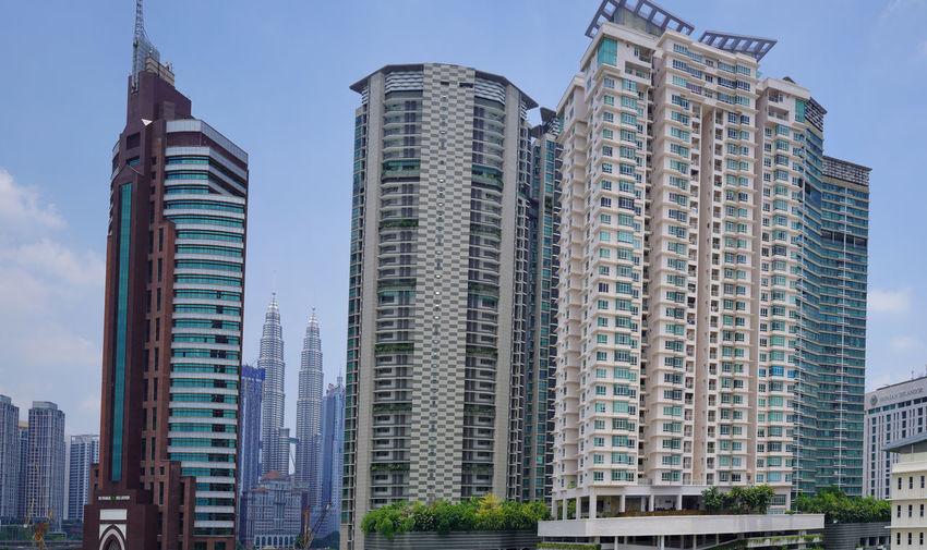 Panorama of Kuala Lumpur skyline. Kuala Lumpur City Cityscape Built Structure EyeEm Best Shots Exterior Sky Skyline Skyscraper Urban Skyline Lifestyles Klcc Malaysia Panorama Day Outdoors
