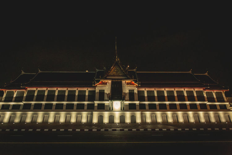 Night Watprasiratana Architecture Building Exterior Night Built Structure Watprasiratana