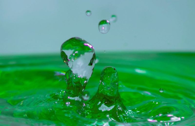 Water Splashing Droplet Motion Drop Bubble Trapped Science Headshot High-speed Photography Splashing Flowing Water