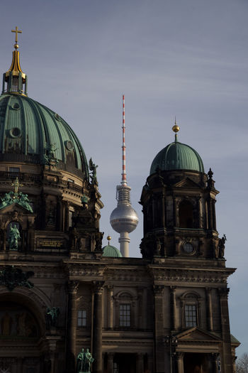 View of berlin cathedral against sky