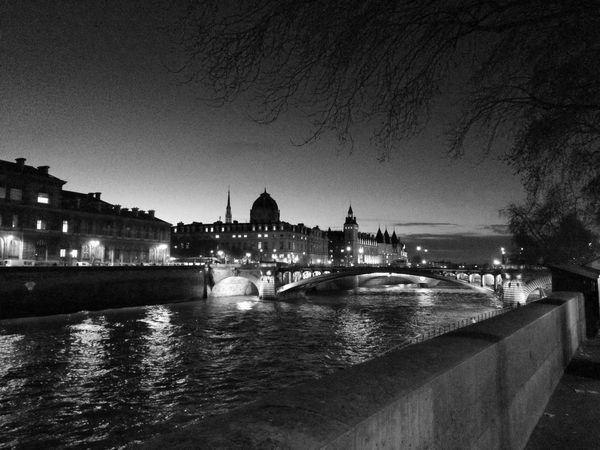 EyeEmNewHere Architecture Bridge - Man Made Structure Building Exterior Built Structure Chain Bridge City Connection Dome Illuminated Night No People Outdoors River Sky Travel Travel Destinations Tree Water