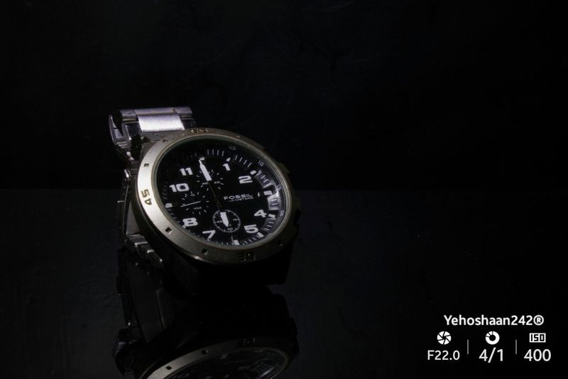 Fossil Fossil Watch Fossilwatch Fossils Fossil Collection Watch Premium Collection Watches Watches Of EyeEm Mensfashion Men Style Menwithclass Menwithstyle Menwithbeards Day Minute Hand Black Background Time Clock Face No People Close-up Clock Indoors