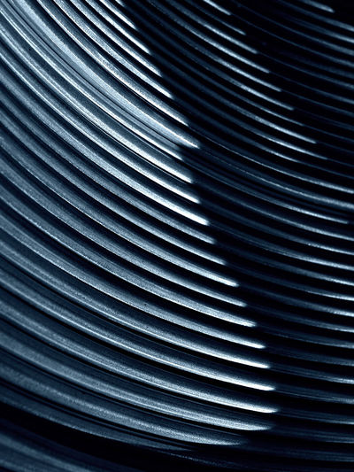 Russia, aluminum, aluminum wire, wire rod, nonferrous metallurgy Russia Russia россия Aluminum Aluminum Wire Architecture Backgrounds Close-up Corrugated Iron Curve Day Full Frame Indoors  Industry Metal No People Nonferrous Metallurgy Pattern Pipe - Tube Silver - Metal Steel Textured  Wire Rod