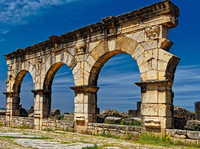 History The Past Ancient Arch Sky Old Ruin Architecture Built Structure Nature Travel Destinations Old Ancient Civilization Low Angle View Tourism Day Travel No People Ruined Archaeology Damaged Architectural Column Outdoors Deterioration