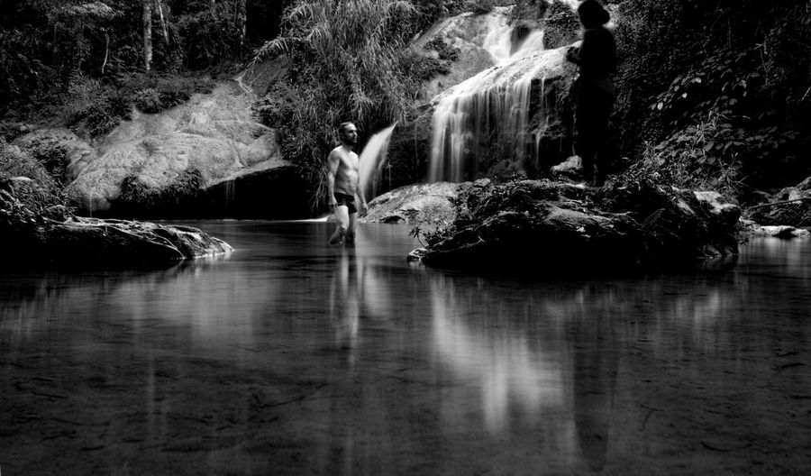 Water Nature Reflection Beauty In Nature Vacations Scenics Tranquility Waterfall Landscape Outdoors Eeyemgallery Eyeemphotography Portrait Photography EyeEm Best Shots - People + Portrait Awesomeplace Nature Nature Photography Human Eye Blackandwhite Black And White Photography Monochrome Photography Blackandwhitephotography